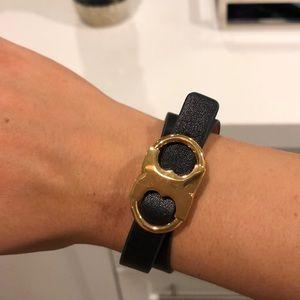 Tory Burch wrap around black bracelet